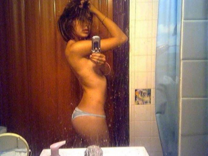 Подборка голых селфи в зеркале - секс порно фото